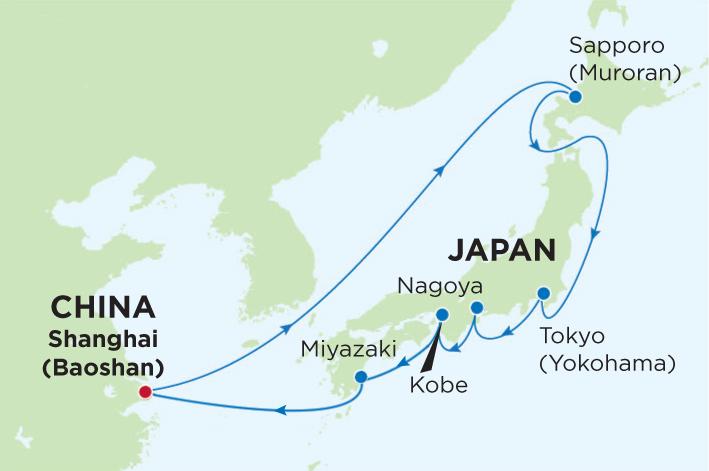 Croaziera Japonia 10 Nopti Blue Heron